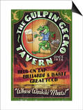 Gulpin' Gecko Tavern - Hawaii Prints by  Lantern Press