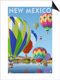 Hot Air Balloons - New Mexico Print by  Lantern Press