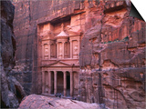 The Facade of the Treasury (Al-Khazneh), Petra, Ma'An, Jordan Art by Anders Blomqvist