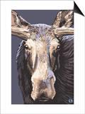 Moose Up Close Poster by  Lantern Press