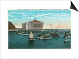 Santa Catalina Island, California - Yachts at Anchor in Avalon Bay Posters by  Lantern Press