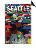 Umbrellas - Seattle, WA, c.2009 Posters by  Lantern Press