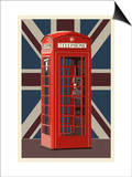 British Phone Booth Prints by  Lantern Press