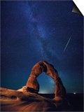 USA, Utah, Moab, Arches National Park, Delicate Arch and Milky Way Posters by Michele Falzone