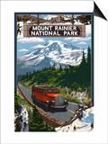 Mount Rainier National Park Prints by  Lantern Press