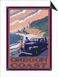 Lighthouse View - Oregon Coast, c.2009 Poster by  Lantern Press
