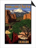 Pikes Peak from Garden of the Gods, Colorado Prints by  Lantern Press