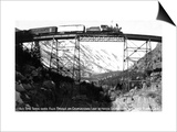 Colorado - Train on Georgetown Loop between Georgetown and Silver Plume Prints by  Lantern Press