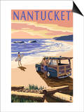 Nantucket, Massachusetts - Woody on Beach Posters by  Lantern Press