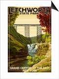Letchworth State Park, New York - Grand Canyon of the East Arte por  Lantern Press
