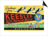 Mississippi - Keesler Air Force Base, Large Letter Scenes Posters by  Lantern Press