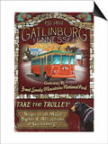 Gatlinburg, Tennessee - Trolley Posters by  Lantern Press