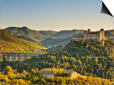 Italy, Umbria, Perugia District, Spoleto, Rocca Albornoz and Ponte Delle Torri Art by Francesco Iacobelli