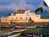 Castle of St. George, Old Gold and Slave Trading Centre, Elmina, Ghana Prints by Ariadne Van Zandbergen