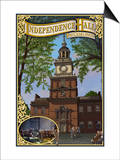 Independence Hall - Philadelphia, Pennsylvania Prints by  Lantern Press