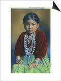 Navajo Silversmith's Daughter Art by  Lantern Press