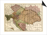 Austria-Hungary - Panoramic Map Art by  Lantern Press