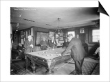 Group of Gentlemen Playing Pool at Billiards Hall Photograph Prints by  Lantern Press