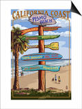 Pismo Beach, California - Destination Sign Prints by  Lantern Press