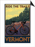 Vermont - Bicycle Scene Prints by  Lantern Press
