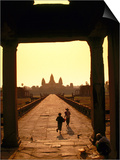 Sunrise at Temple Entrance, Angkor Wat Prints by Ernest Manewal