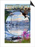 Seward, Alaska - Montage Prints