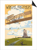Wright Brothers National Memorial - Outer Banks, North Carolina Poster by  Lantern Press