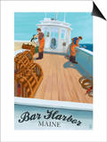 Bar Harbor, Maine - Lobster Boat Posters by  Lantern Press