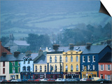 Colourful Houses on Misty Day, Bantry, Ireland Prints by Oliver Strewe
