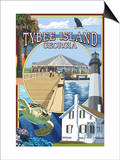 Tybee Island, Georgia - Montage Prints by  Lantern Press