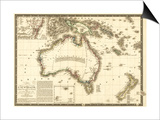 Australia - Panoramic Map Prints by  Lantern Press
