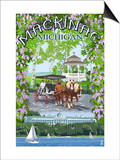Mackinac, Michigan - Montage Scenes Prints by  Lantern Press