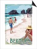 Horseshoe Bay Beach Scene - Bermuda Prints