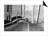 Tacoma, Washington - November 7, 1940 - Tacoma Narrows Bridge - Galloping Bridge Prints by  Lantern Press