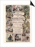 Oliver Twist by Charles Dickens Poster by George Cruikshank