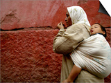 Mother and Child in the Narrow Alleys of the Kasbah, Marrakesh, Morocco Posters by Doug McKinlay