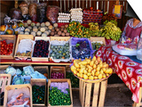 Fruit and Vegetable Shop on Roadside, Oaxaca, Mexico Prints by Greg Elms