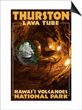 Thurston Lava Tube - Hawaii Volcanoes National Park Posters by  Lantern Press