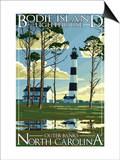 Bodie Island Lighthouse - Outer Banks, North Carolina Prints by  Lantern Press
