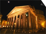 Full Moon Over Pantheon and Portico, Rome, Italy Posters by Martin Moos