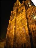 Strasbourg's Cathedrale of Notre Dame at Night, Strasbourg, Alsace, France Art by Stephen Saks