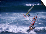 Windsurfing the Tradewinds, Hookipa, Maui, Hawaii, USA Prints by Karl Lehmann