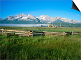 Arrow a Ranch and Sawtooth Mountains, Stanley, Idaho Art by Holger Leue