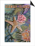 Kiawah Island, South Carolina - Tidepool Posters by  Lantern Press