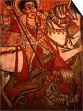 Detail of Wall Painting in Church, Ethiopia Prints by Frances Linzee Gordon