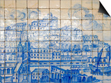 Azulejos, Portugal's Painted Tiles at the Museo Nacional Do Azulejo, Lisbon, Portugal Prints by Greg Elms