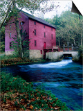 Alley Mill at Alley Spring, Ozarks National Scenic Riverways, Ozark National Park, Missouri Print by John Elk III