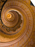 Spiral Staircase at Baroque Monastery Church of Sts Peter and Paul Prints by Richard Nebesky