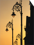 Georgian Lanterns at Sunset, Dublin, Ireland Posters by Martin Moos