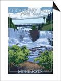 Gooseberry Falls State Park - Minnesota Lámina por  Lantern Press